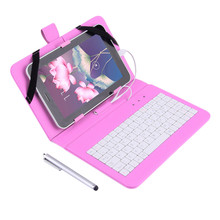 "7"" PU Leather Case Cover With USB Keyboard for 7"" inch Android Tablet PC Wholesale"