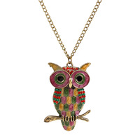 Fashion owl necklace wholesale N3395