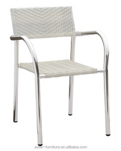 Biscay outdoor garden white wicker used dental wedding chair for sale