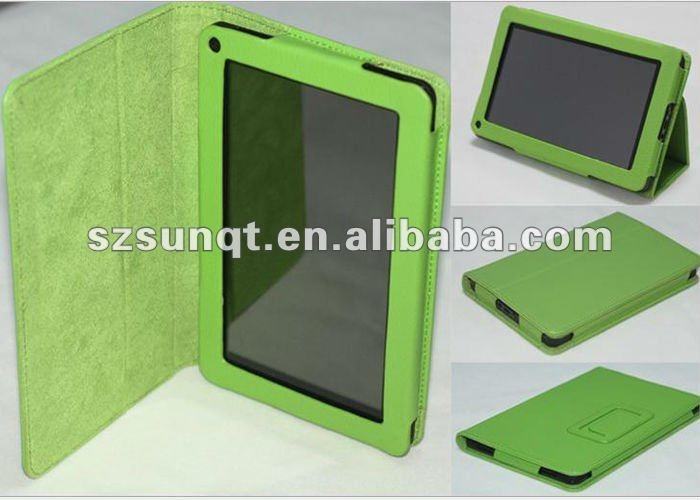 "Premium Folio Case Cover and Flip Stand For New Amazon Kindle Fire HD 7""Tablet"
