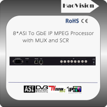 ASI to IP multiplexer,digital tv scrambler(option) with CAS encrypted