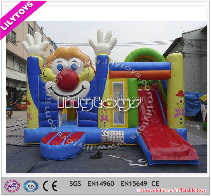 commercial inflatable jumping bouncer, inflatable combo bouncy and slide