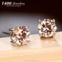 T400 Jewellery Earrings S925 Sterling Silver Make With Swarovski Zirconia