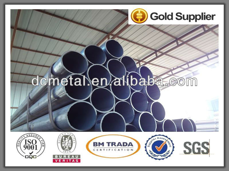 Q235 Best Selling galvanized pipe size chart High Quality galvanized steel pipe manufacturers china