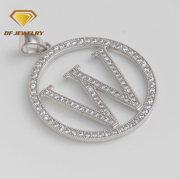 New!!!charming 925 silver jewelry letter w fashionable pendant