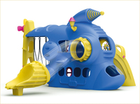 KAIQI classic Plastic Toys Series KQ50135E Popular Kids Spaceship playground equipment with slide and swing