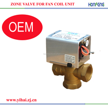 "220v 24v 3 port /2 port 3/4"" motor electric operated zone valve for water"