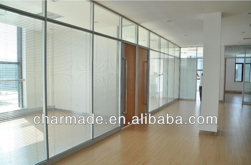 Used Wall Partitions : V series used office wall partitions clear glass