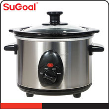 1.5L Round Shape Electric Mini Slow Cooker GS,CE,CB,UL.