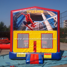Commercial kids spiderman inflatable bouncer with various theme panel FOR SALE