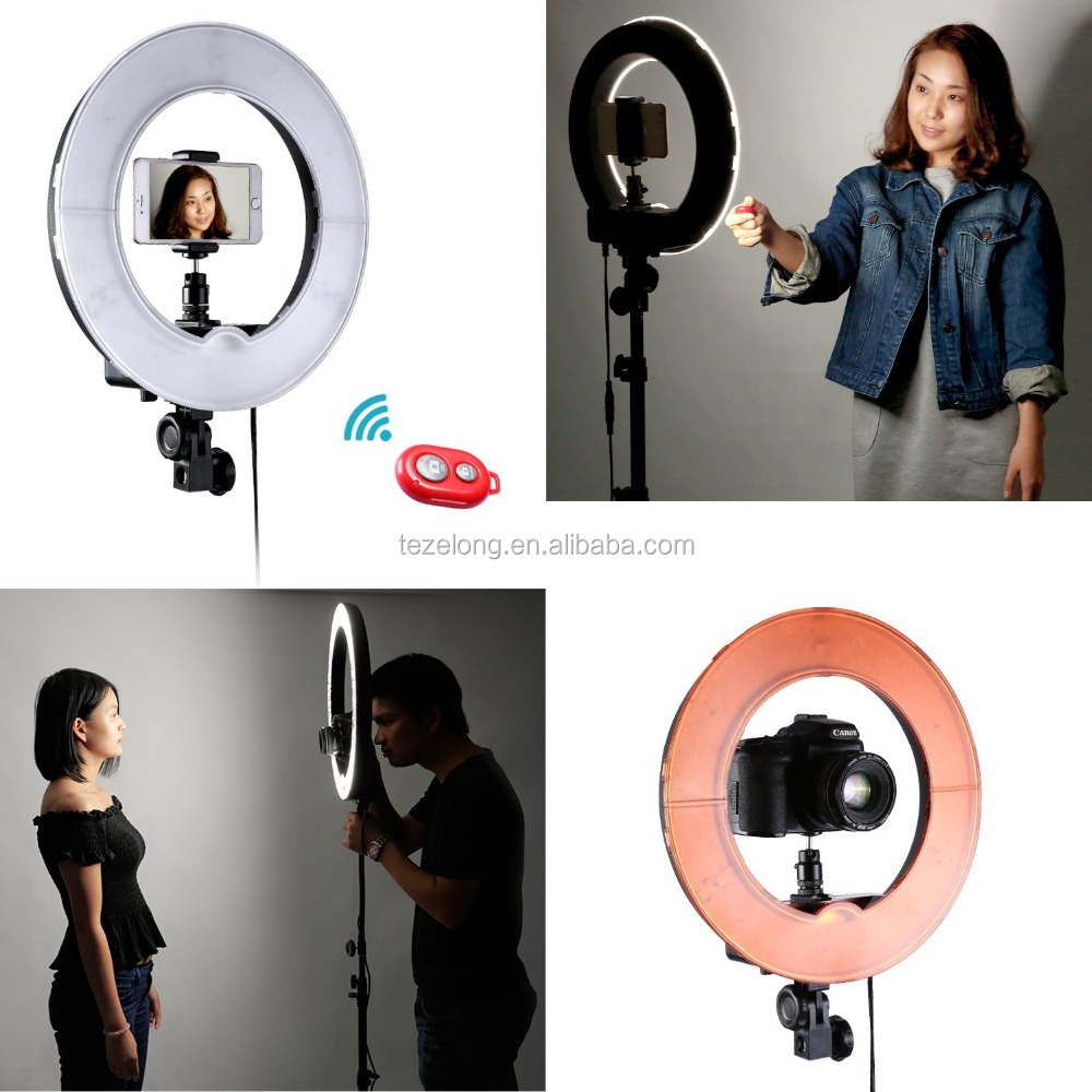 Led ring round light dimmable dimmer dim adjustable camera photo video portrait 18inch led photography light 240pcs circle lamp