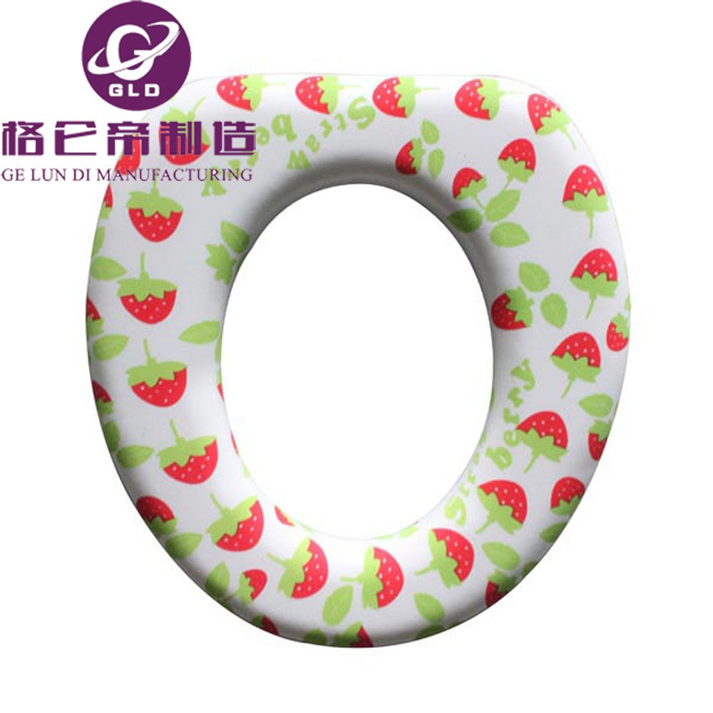 GLD China Manufacturing Bathroom Fashion Plastic Toilet Lid Comfortable Baby Pvc Soft Toilet Seat ,pvc soft toiilet seat cover