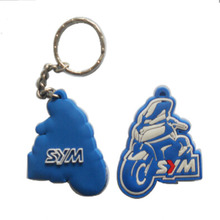 high quality micro injection design recessed 2d double side soft pvc custom rubber motorcycle keychains