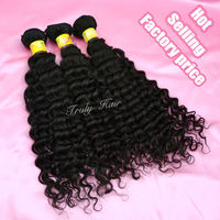 100% Malaysian raw rosa hair products deep curl,1pc of 20'' natural color