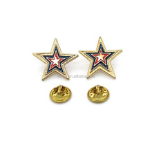 wholesale new style soft enamel star shaped lapels pins with one butterfly clutch.
