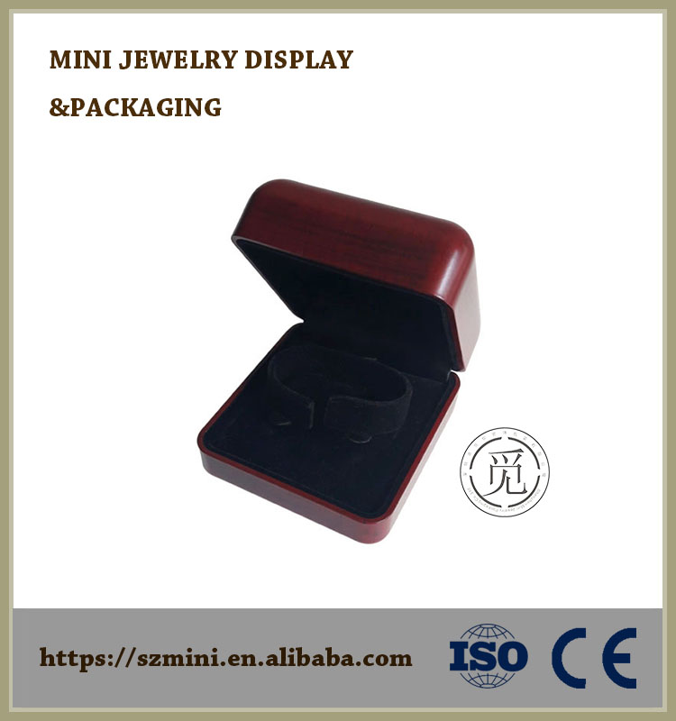 Piano Finish and Suede Jewelry Box,Polish Lacquer Wood Jewelry Box