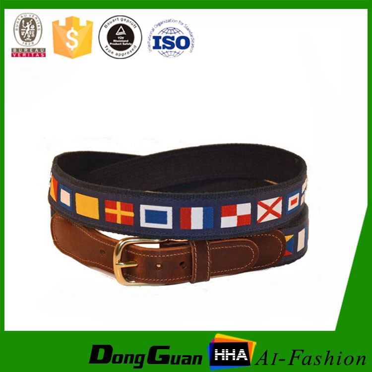 Personalized new products Canvas Leather Belt