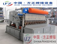Full-auto fence mesh panel making machine with automatically bending device