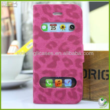 Fashionable Leopard Flip Leather Cover for IPhone 5 Leopard Flip Case