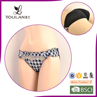 cute in black and white check new arrival young girl cotton panty