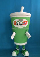 HI CE popular boost juice cup cartoon mascot costume made in China