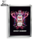 Aluminum snap frame light box 4cm with shinning glossy