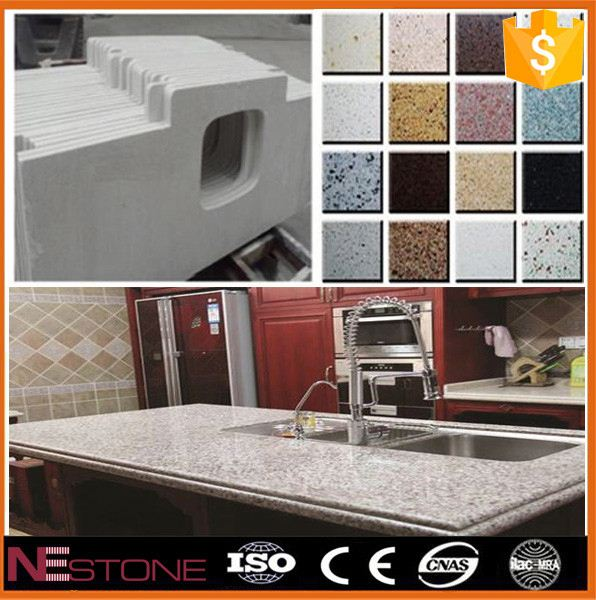 Cut to size pure white solid surface table top/acrylic kitchen worktop