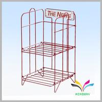 China supplies high quality metal mesh library magazine brochures rack