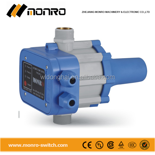 Zhejiang monro 240v adjustable water pump automatic pressure level switch epc-1