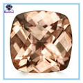 charming fat square shaped brown cubic zirconia