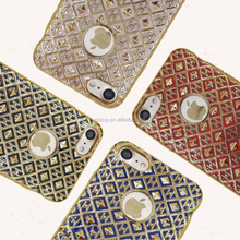 Newest electroplating laser carved 3d stylish transparent tpu phone case for iphone 6/7