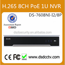 International English DS-7608NI-I2/8P Hikvision NVR 8CH PoE With Latest Firmware For Surveillance Use