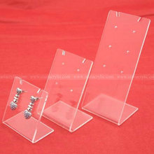 Double Triple Slant back Acrylic earring display Stand Single Perspex jewelry Necklace Holders