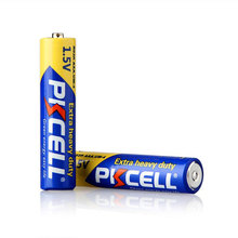 pkcell 1.5 v um4 type zinc chloride battery 1.5v r03p r03 um-4 size aaa carbon dry battery