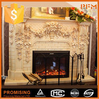 euro style mordern design pebble gas fireplace