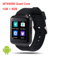 "2016 New Arrival Q1 Smart Watch 1.54"" Display Android 5.1 WiFi GPS 3G Bluetooth Smartwatch Support NANO Sim Card Clock Phone"