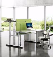 height adjustable executive office desk metal office table steel office desk