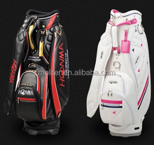 Custom made staff and leather GOLF CART BAG 2016