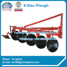 Farm plowing machine 6 discs plow with ISO9001