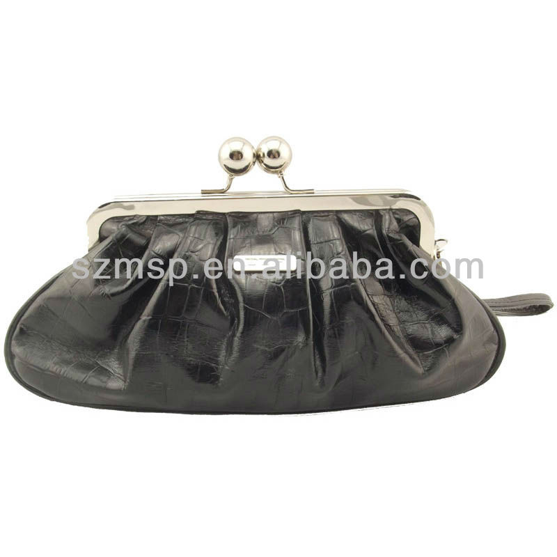 Shiny PU classic ladies clutch bag