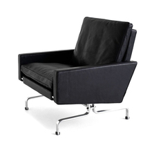Poul Kjaerholm Modern leisure chair & leather sofa with stainless steel arm chairs