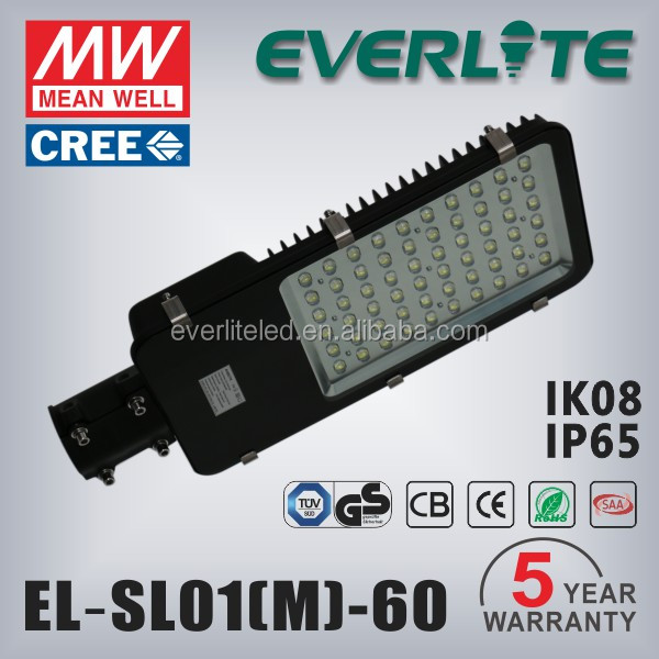 12v solar led street ligth 60w die casting outdoor street light
