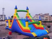 Stable giant inflatable bouncy slide