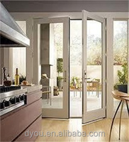 factory price high quality fashionable aluminum double swing door for kitchen