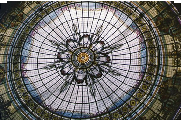 Tiffany stained glass ceiling skylight dome, decoration sunroof