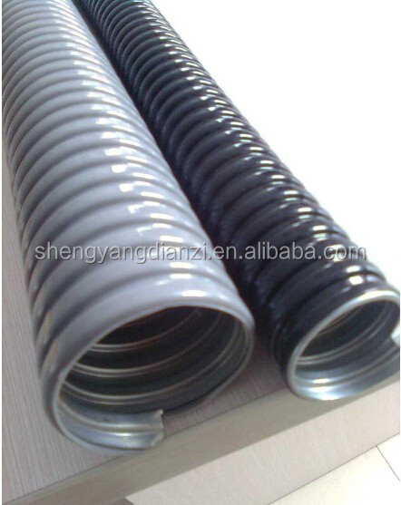 flexible pvc coated tube/ flexible pvc coated pipe for wire and cable protection