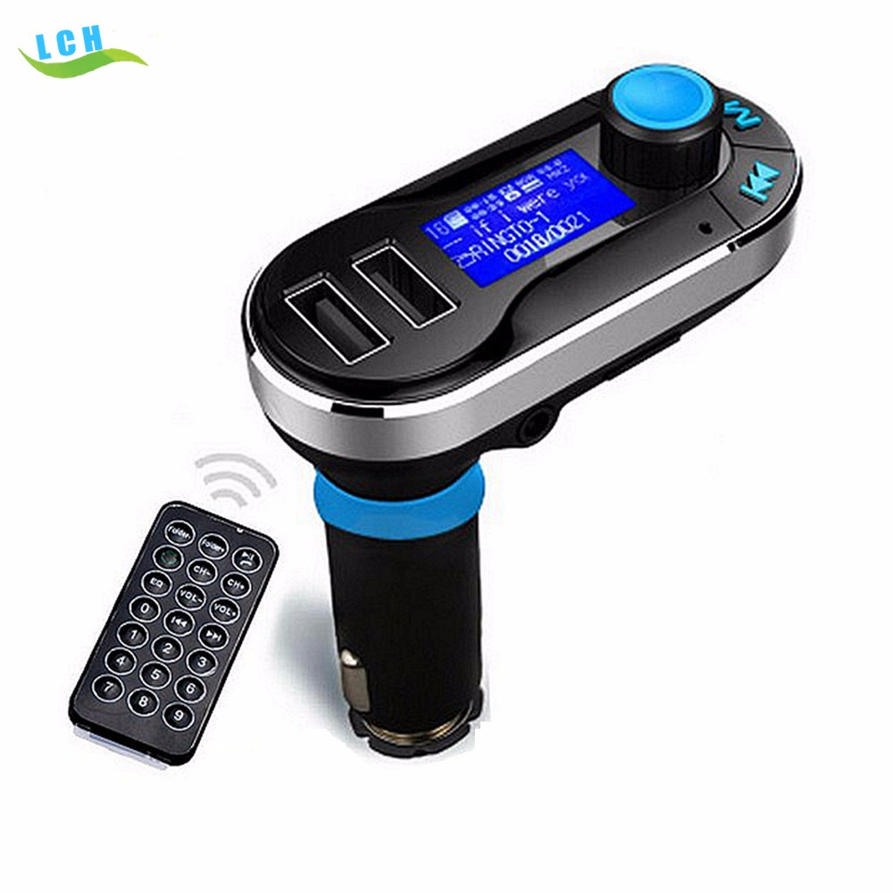 Bluetooth car MP3 Player BT66 Handsfree Car Kit Dual USB Charger FM Transmitter