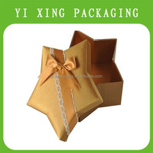 2015 romantic wholesale start shape packaging gift box for chocolate