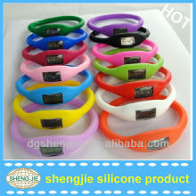 fashion energy bracelet silicone channel watches
