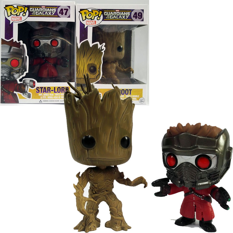 Gifts&decoration Funko pop Guardians of the Galaxy DANCING GROOT 49 action figures custom